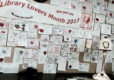 All the reasons why Gaithersburg customers love the library!  Library Lovers Month display.