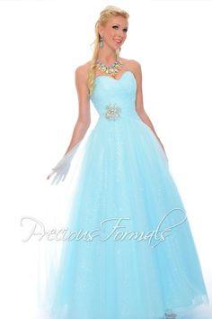 2015 Precious Formals P21081 at Prom Dress Shop #prom2k15 #pretty #blue #aqua #sequins #unique #preciousformals #prom #dress #sequins #cinderella #blonde