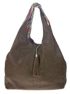 Canal Collection Reversible and Expandable Shopper Hobo Handbag
