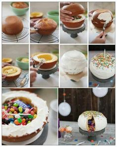 Candy Filled Cake: How To