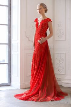 Fashion Red Lace Evening Dress Long 2019 Short Sleeve Formal Prom Gown Red Carp Party Dresses Robe De Soiree Abendkleider Kaftan And Digestion Helping Weddings & Events