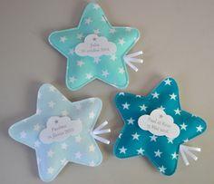 ballotins de dragées en forme d'étoile couleurs assorties mint