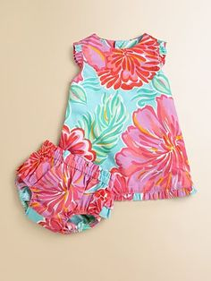 Lilly Pulitzer Kids - Infant's Big Floral Print Dress & Bloomers Set - Saks.com