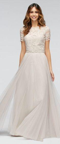 gefunden bei Happy Brautmoden Brautkleid elegant, elegantes Brautkleid, Watters, Spitze, Spitzenkleid, edel, elegant, fließend, Rückenausschnitt, Hochzeitskleid, romantisch
