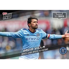 DAVID VILLA - 2017 MLS Topps NOW Card 5 - Print Run QTY: 107 Cards