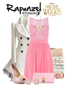 """Rapunzel of Into the Woods ~Neverlandbound"" by gallifreyangryffindor ❤ liked on Polyvore featuring Forever New, Liz Claiborne, Charlotte Russe, Michael Kors, WALL, intothewoods, neverlandbound and neverlanddisney"
