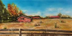 Buy Old Red Barn at Fore Ranch, Oil painting by Nina R. Aide on Artfinder. Discover thousands of other original paintings, prints, sculptures and photography from independent artists.