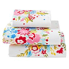 View larger image of Floral Flannel Twin Sheet Set