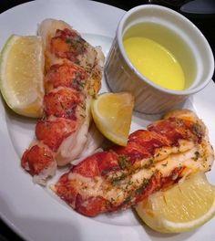 Finished sous vide lobster tails.