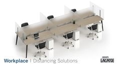 Our workplace distancing solutions provide environments that keep people healthy, safe and productive.  Create healthier workspaces with our soft seating, panel system, acrylic privacy screens, freestanding acrylic screens, fixed acrylic screens, surface lateral acrylic screens, end surface acrylic screens, laminate lateral gallery panels with acrylic screens and more!   #groupelacasse #workplacedistancing #physicaldistancing #staysafe #smartspaces #privacy Panel Systems, Privacy Screens, Soft Seating, Workspaces, Office Furniture, Surface, Create, Gallery, Healthy