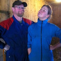 #Farmer Petter and #workaway er Honor with matching overalls #Sweden