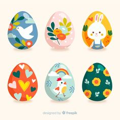 Discover thousands of free-copyright vectors on Freepik Easter Egg Crafts, Easter Art, Easter Bunny, Easter Illustration, Easter Egg Designs, Easter Traditions, Coloring Easter Eggs, Easter Colors, Easter Activities
