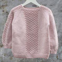Image of DK-0028 Perlestykke oppefra og ned Raglansweater Str. 1 - 10 År.