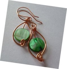 ADAEZE Leaf Earrings from the  Whimsical by majesticwireartworks, $10.00