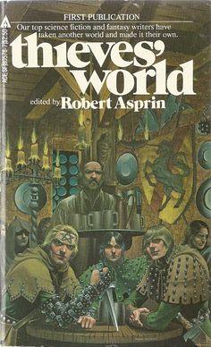 Robert Aspirin (edited) Thieves World Cover Art. Fantasy Book Covers, Best Book Covers, Book Cover Art, Fantasy Books, Book Art, Fantasy Artwork, Ace Books, Cool Books, Sci Fi Books