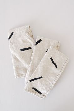 Classic linen napkins - hand printed in New York by Caroline Hurley.