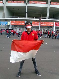 The flag of my country, supporting our football team pride, country Indonesia (my blood red, white my bones, garuda in my chest. INDONESIA always in my heart) Republic of Indonesia. #saveIndonesianfootballteam
