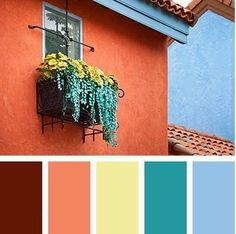 Love this color scheme for a bright and fun look!
