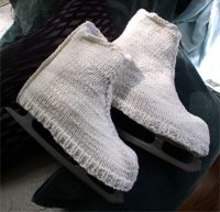 Knit skate covers. Need a new pair! Mine fell apart after many years.