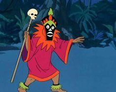 Creepy tribal villian guy