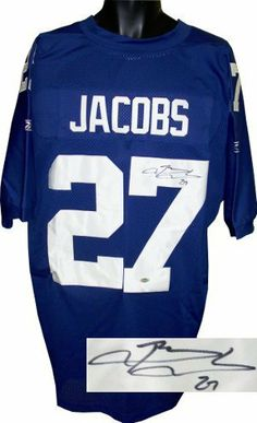 Brandon Jacobs signed New York Giants Blue Reebok Authentic Jersey- Steiner  Hologram .  324.90. 379c3263c