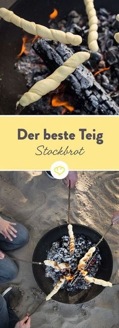 Prepare stick bread: the very best recipe with and without yeast-Stockbrot zubereiten: Das allerbeste Rezept mit und ohne Hefe August, a warm summer evening with dear friends, a … - Camping Meals, Kids Meals, Camping Hacks, Campfire Snacks, Foil Pack Meals, Snacks Für Party, Finger Foods, Food Inspiration, Fitness Inspiration