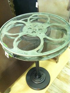 Check out this table I found at Homegoods.  We are renovating our downstairs into a movie room/den.  What a find!!