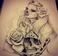 I'm Latina I've got this! Cholo Tattoo, Chicanas Tattoo, Chicano Art Tattoos, Chicano Drawings, Body Art Tattoos, Tattoo Drawings, Art Drawings, Skull Tattoos, Gangsters
