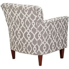 Fairview Lane Pewter and Ivory Accent Armchair ($600) ❤ liked on Polyvore featuring home, furniture, chairs, accent chairs, cream accent chair, beige arm chair, off white accent chair, pattern chair and ivory armchair