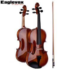 4/4 Full Size Violin Pinus Bungeana Top Maple Back and Sides with Lightweight Hard Case Bow and Rosin