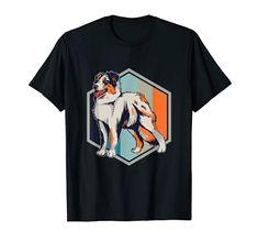Australian Shepherd, Retro, Funny Shirts, Mens Tops, Dog T Shirts, Aussie Shepherd, Australian Shepherds, Mid Century