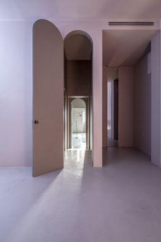 House of Dust by Antonino Cardillo architect in Rome, Italy. Houses Architecture, Architecture Details, Interior Architecture, Interior And Exterior, Hotel Door, Architect House, Windows And Doors, Interior Decorating, House Design