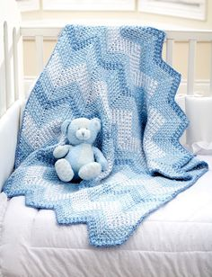 Yarnspirations.com - Bernat Cascading Ripples Blanket - Patterns  | Yarnspirations - (Pattern Downloaded - SLT)