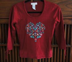 RARE Anthropologie 2002 Where the Heart Is Sweater Top Sleeping on Snow 4 6 S #Anthropologie #ScoopNeck