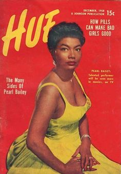 Pearl Biley in the 1958 issue of Hue Magazine