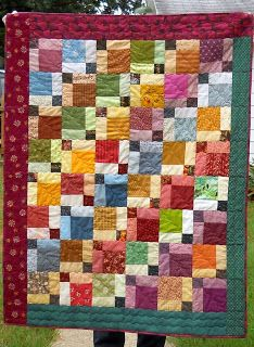 Scrapbox Quilts: disappearing 9 patch AGAIN!  Love them!