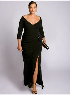 black evening plus size dress
