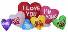 Valentine s Inflatable LED Love Hearts Cloud Indoor Outdoor Yard Lawn Decoration