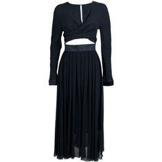 Chanel - Chanel Pleated Silk Dress with Bare Midriff ❤ liked on Polyvore