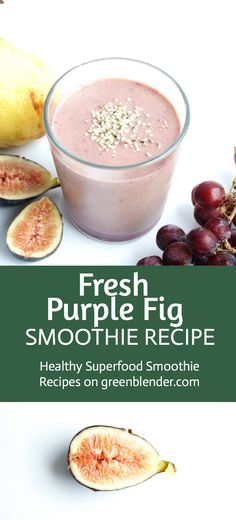 This purple smoothie evokes the Mediterranean region. Fiber-rich figs are full of potassium, which can help reduce blood pressure. Grapes have all the health benefits of red wine with none of the hangover! Maqui powder has antiviral properties and may benefit the cardiovascular system. Omega-3s and 6s present in hemp seed are also excellent for the heart. Enjoy your vacation!