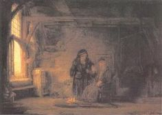 Tobit and Anna with the Kid - Rembrandt