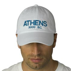 Athens Greece Personalized Adjustable Hat Embroidered Hats