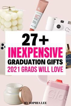 I love all of these ideas because they are super unique finds that I know my nieces would love. They are going to be super impressed by how trendy I am ;). Outdoor Graduation Parties, High School Graduation Gifts, Graduation Party Decor, Grad Gifts, School Signs, Party Ideas, Gift Ideas, Care Packages, Unique