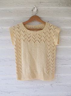1980's Knit Top Butter Pointelle Sweater by sparvintheieletree... cute but no pattern
