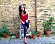 Fringe top from #mango , Jeans from #zara ,heels from #marksandspencer #modaonthego