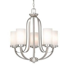 Cascadia Lighting�5-Light Oxford Brushed Nickel Chandelier - entry light
