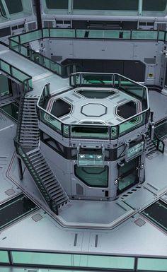 Eternis Station Lab———— Martian outpost Lab Area by Alexey Pyatov Spaceship Interior, Futuristic Interior, Spaceship Design, Spaceship Concept, Futuristic Architecture, Minimalist Architecture, Futuristic Design, Star Citizen, These Broken Stars