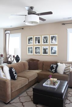 Add a drum shade to your ceiling fan for a more updated, stylish look