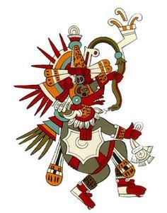 Quetzalcoatl, the Feathered Serpent. He's Tezcatlipoca's brother and (in my books, anyway) the good-guy Mexica god. Quetzalcoatl Art, Mexican Artwork, Feathered Serpent, American Dragon, Aztec Culture, Aztec Art, Mesoamerican, Chicano Art, Ocelot