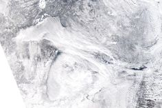 This is a satellite image of Michigan, taken January 6th. Seems a bit chilly!